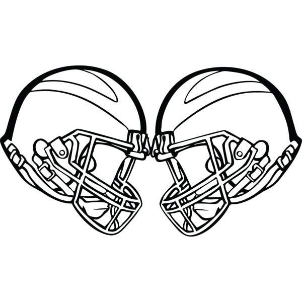 600x600 Football Two Crashing Helmets Sports Art For Custom Gifts