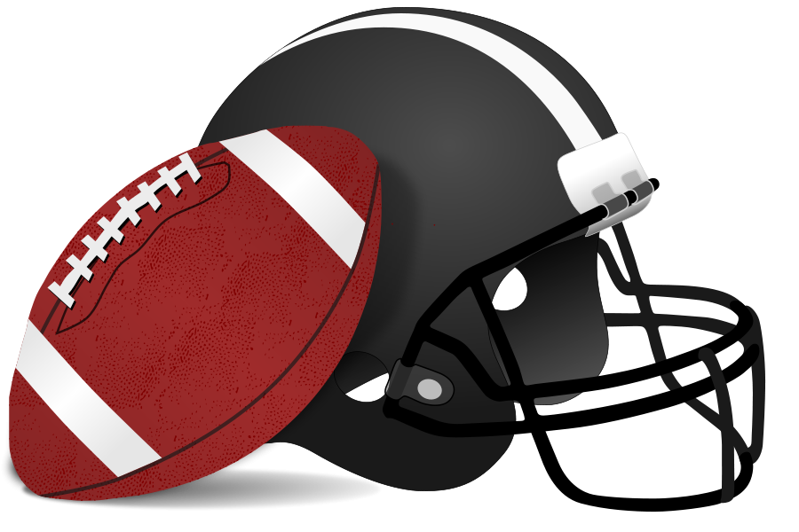 900x600 Black Clipart Football Helmet