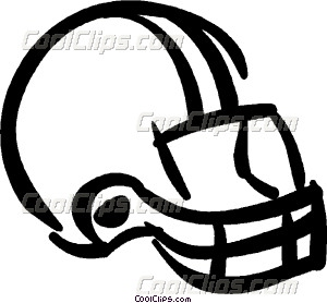 300x278 Football Helmet Vector Clip Art
