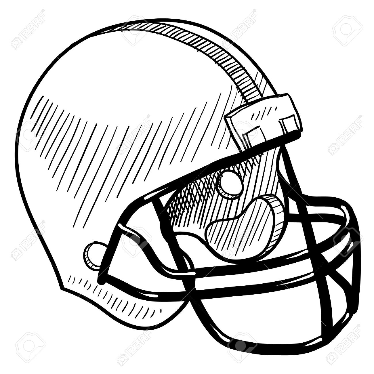 1300x1300 Vintage Football Helmet Clipart