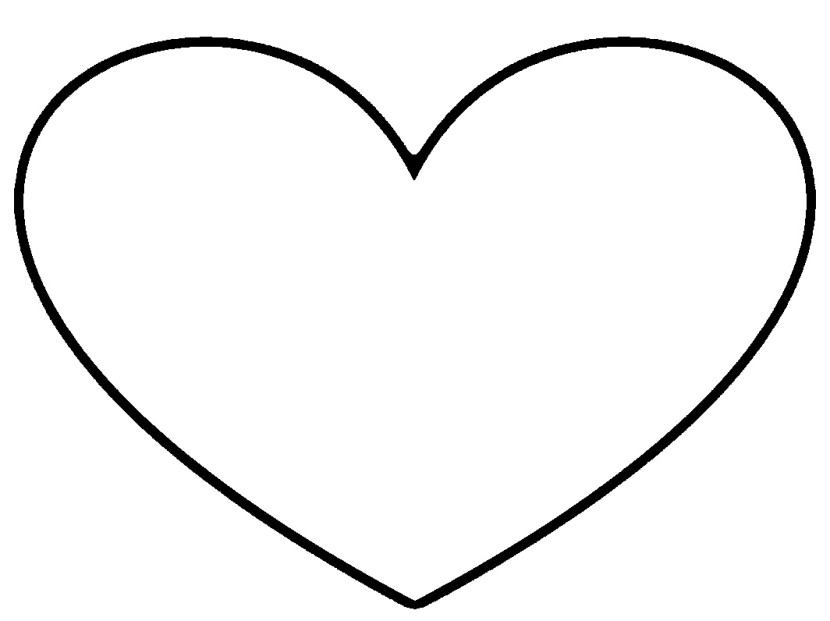 830x621 Black And White Heart Clip Art