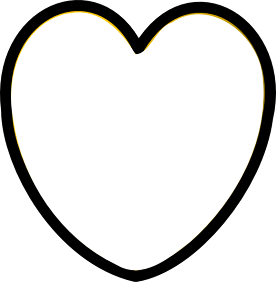553x565 Heart Clipart Black And White Heart Clip Art Black And White