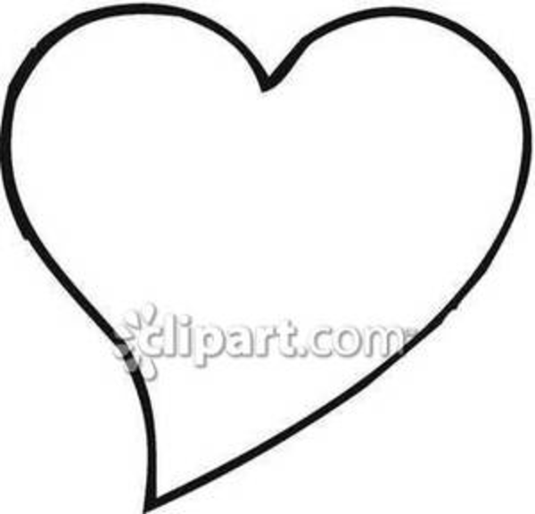 600x576 Black And White Heart Clipart