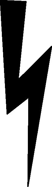 168x599 Black Lightning Bolt Clip Art