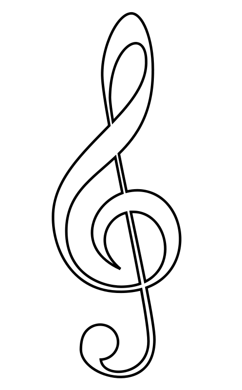 497x800 Music Notes Black And White White Music Staff Clipart