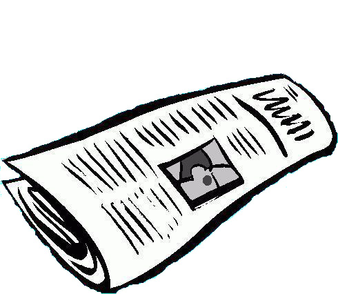 490x426 Journalist clipart rolled newspaper