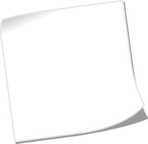 300x291 Note Blank White2 Clip Art