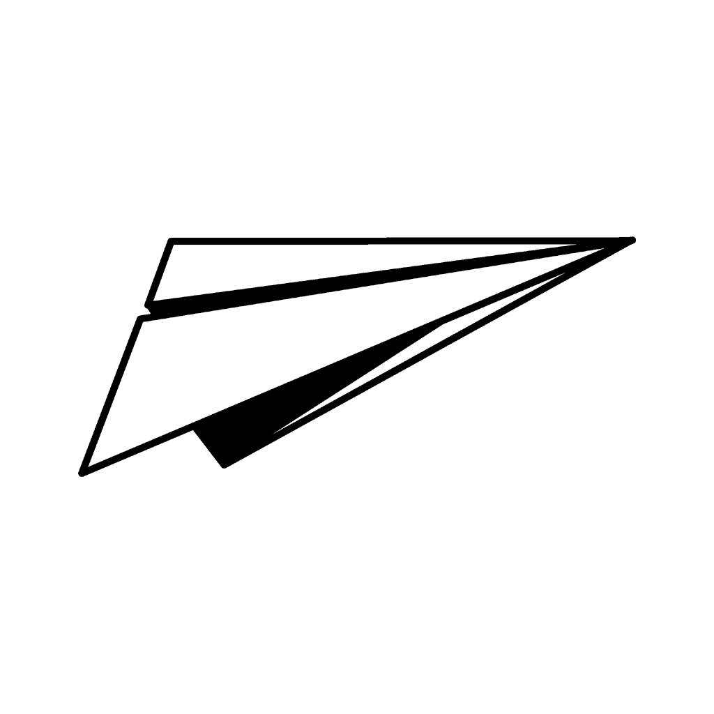 1024x1024 Paper Airplane Clip Art Many Interesting Cliparts