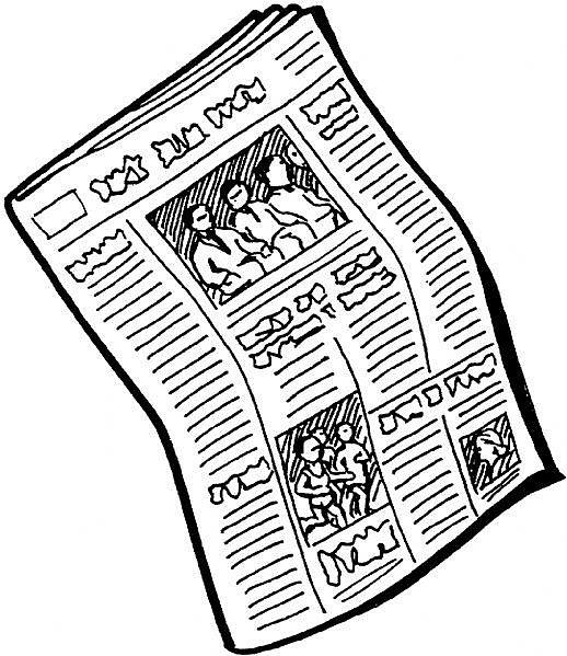 518x599 Paper Clipart Newspaper