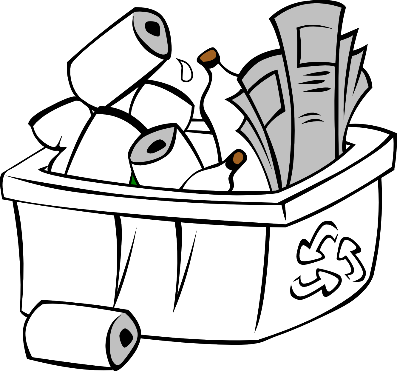 1331x1243 Recycle clipart black and white free images