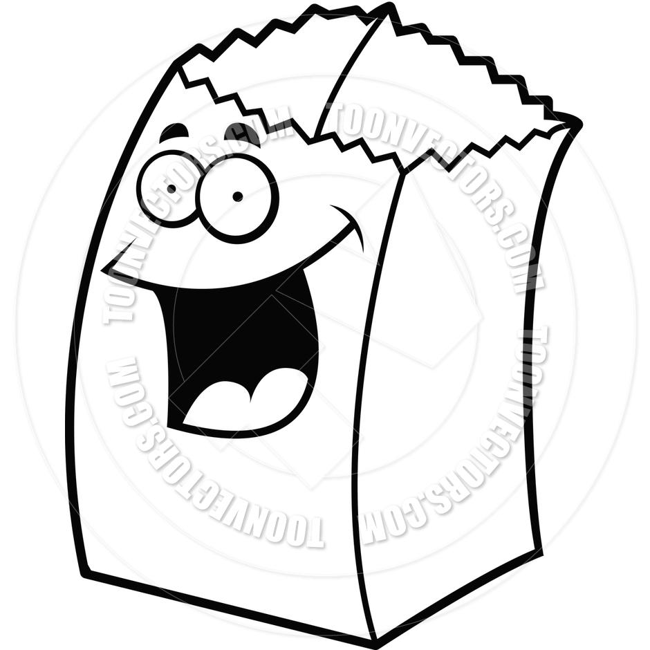 940x940 White Paper Bag Clip Art