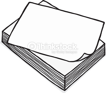 443x389 White Paper Clipart