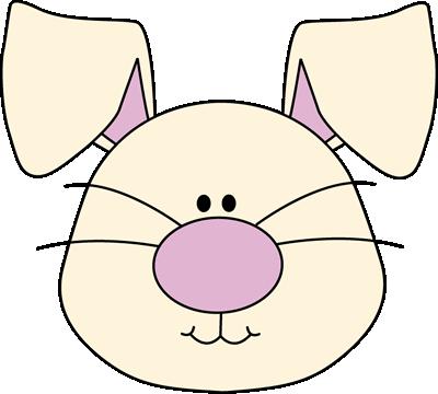400x360 Bunny Face Clip Art