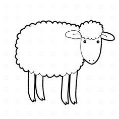 236x236 His Sheep Cutouts