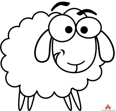 400x383 Sheep Clipart Black And White