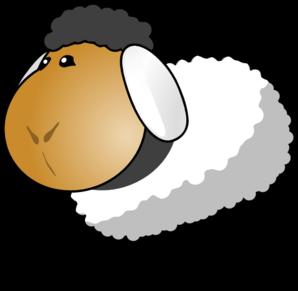 298x291 Sheep White Grey Hair Clip Art