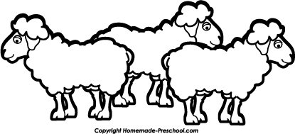 415x189 Sheep Black And White Group Of Black And White Sheep Clipart