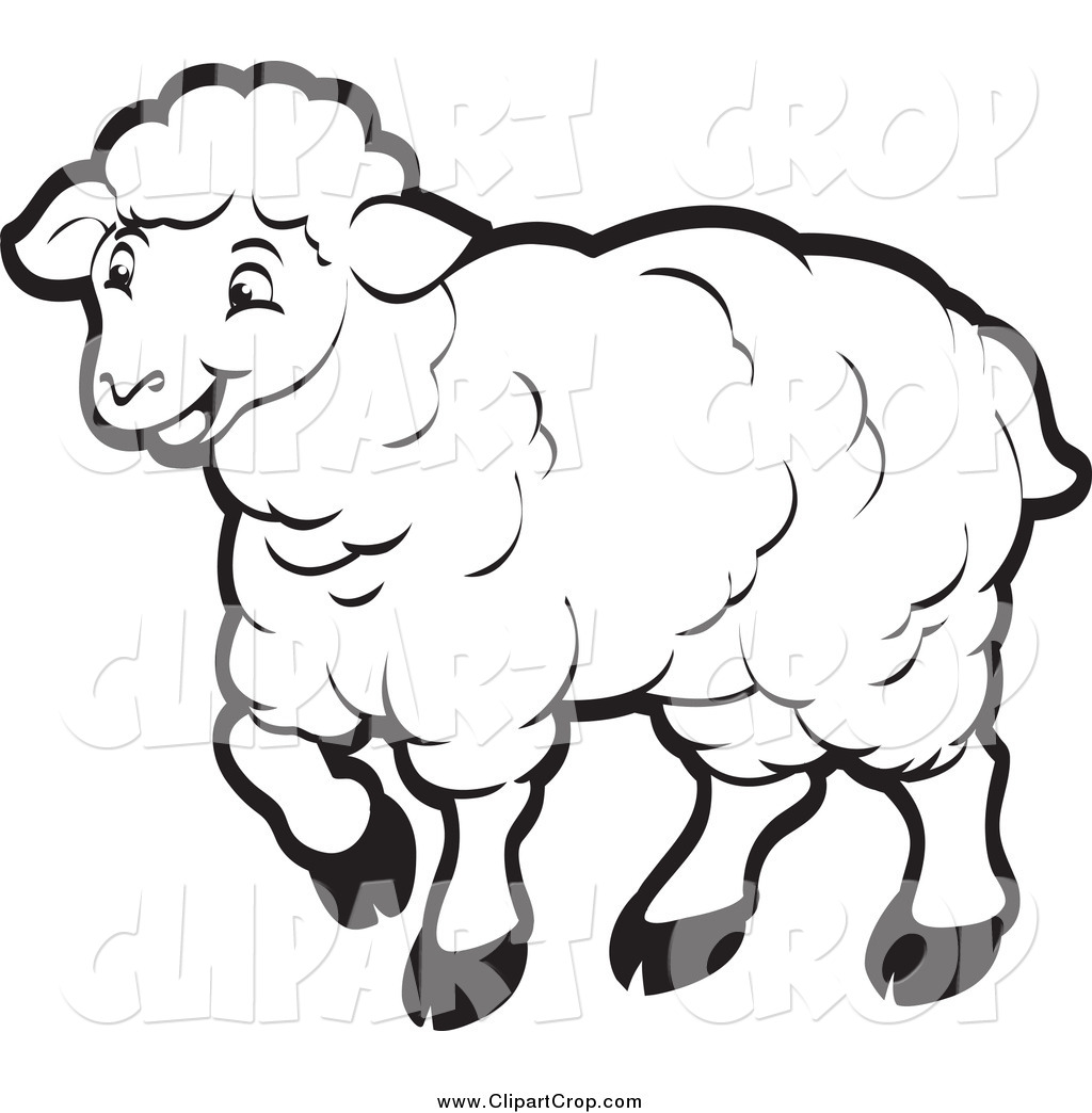 1024x1044 Black And White Sheep Clipart