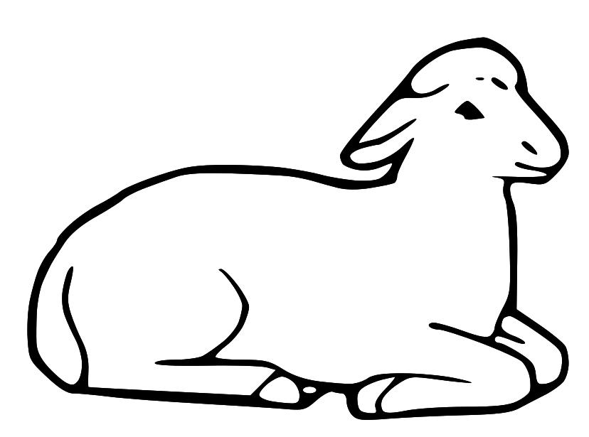 828x615 Sheep Clipart Lds