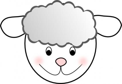425x291 Sheep Clipart Sheep Head