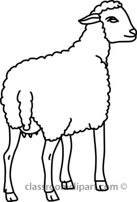 271x400 Black And White Sheep Clipart