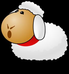279x299 White Sheep Clip Art