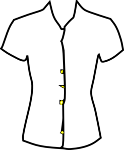 246x299 Ladies Shirt, Black And White Clip Art