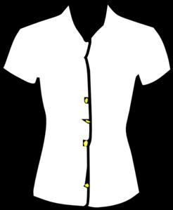 246x299 Ladies Shirt, Black And White Clip Art