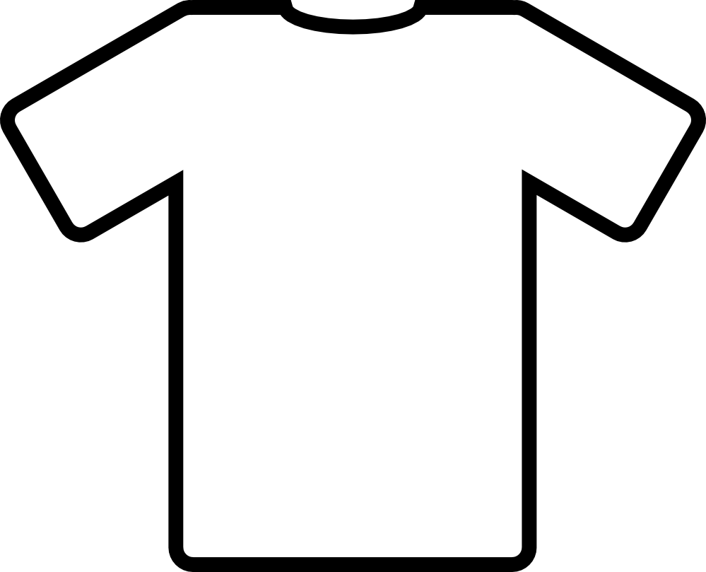 999x809 Clip Art Blue T Shirt Black White Line Art Svg