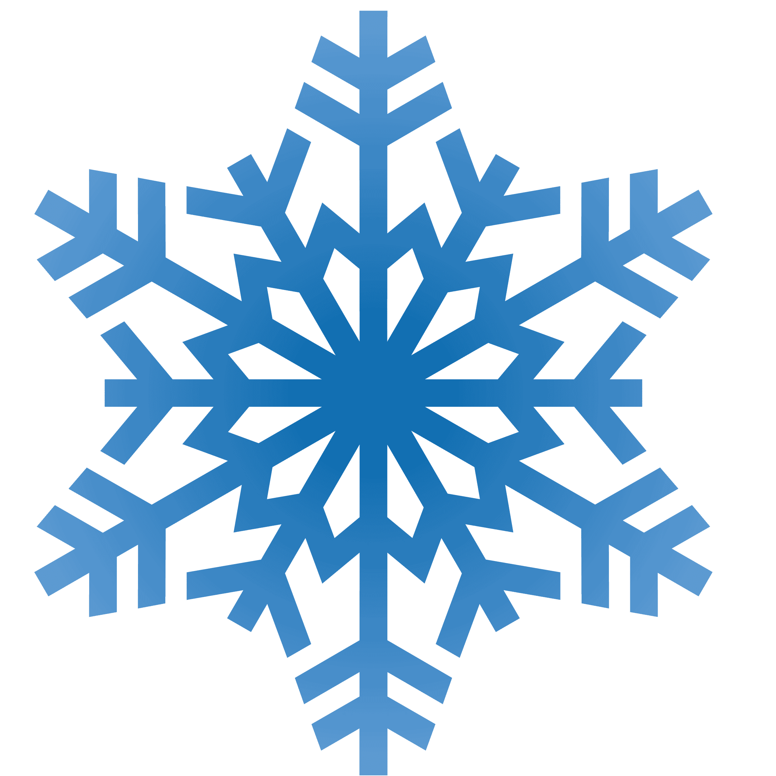 2480x2480 Snow Flakes Clipart