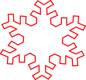 299x279 Red Snowflake Clipart