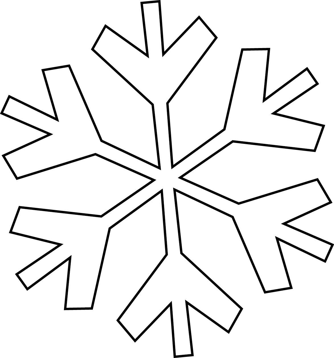 1173x1259 Simple Snowflake Clipart