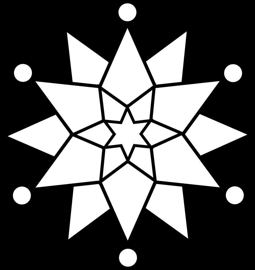 830x880 Snowflake Line Clipart