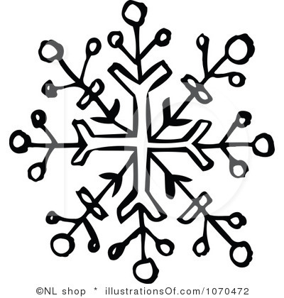 400x420 Snowflake Clipart Line Drawing