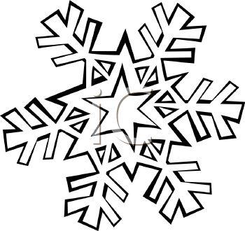 350x330 Star Snowflake Clipart
