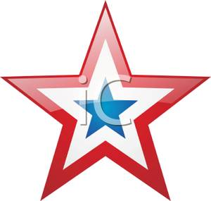 300x285 Art Image A Red White And Blue Star