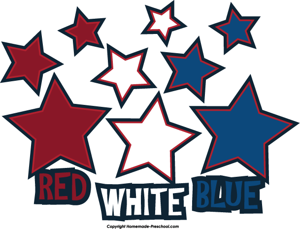 609x465 Red White And Blue Stars Clipart