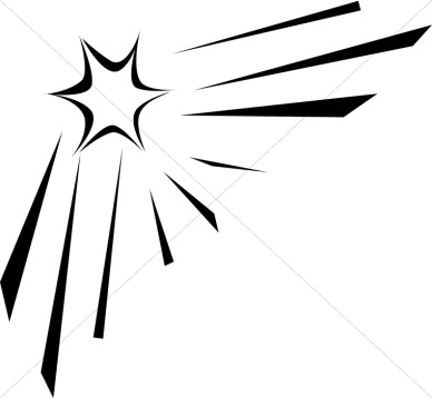 388x358 Shooting Star Clip Art Black And White Free 4