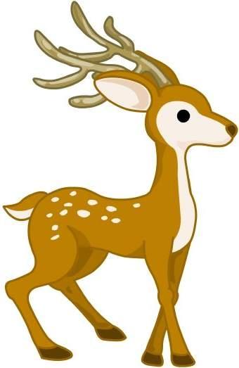 340x523 Deer Clip Art