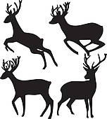 152x170 White Tailed Deer Clip Art