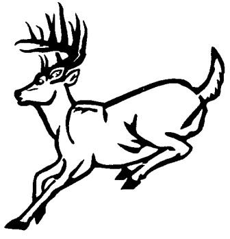 336x349 Whitetail Deer Outline Drawings Deer Running Outline Wall Decal