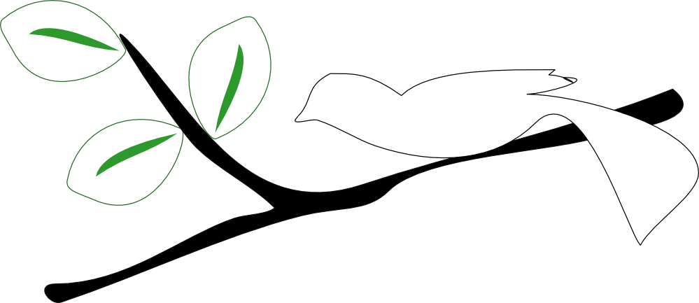 999x433 Tree Branch Black And White Clipart