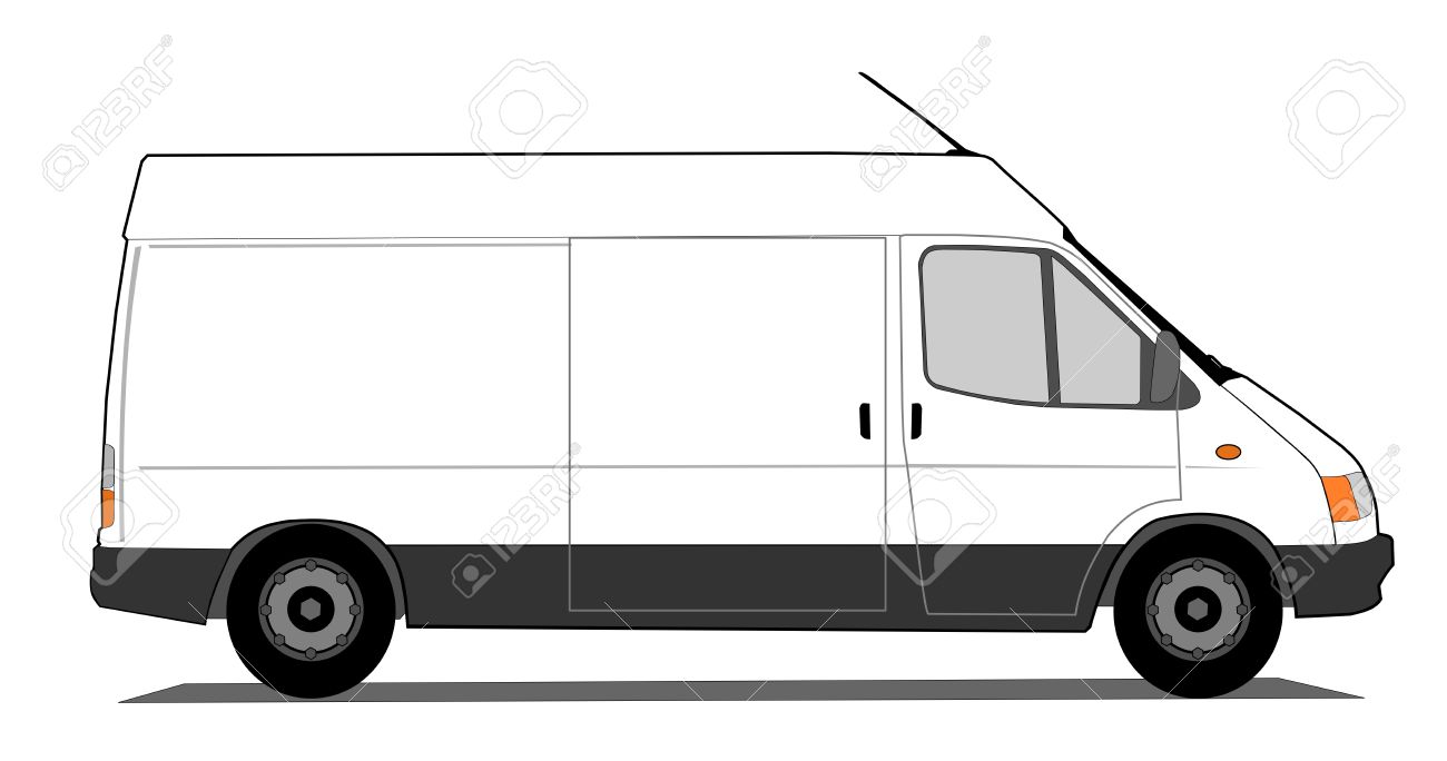 1300x684 Van Outline Clipart Collection