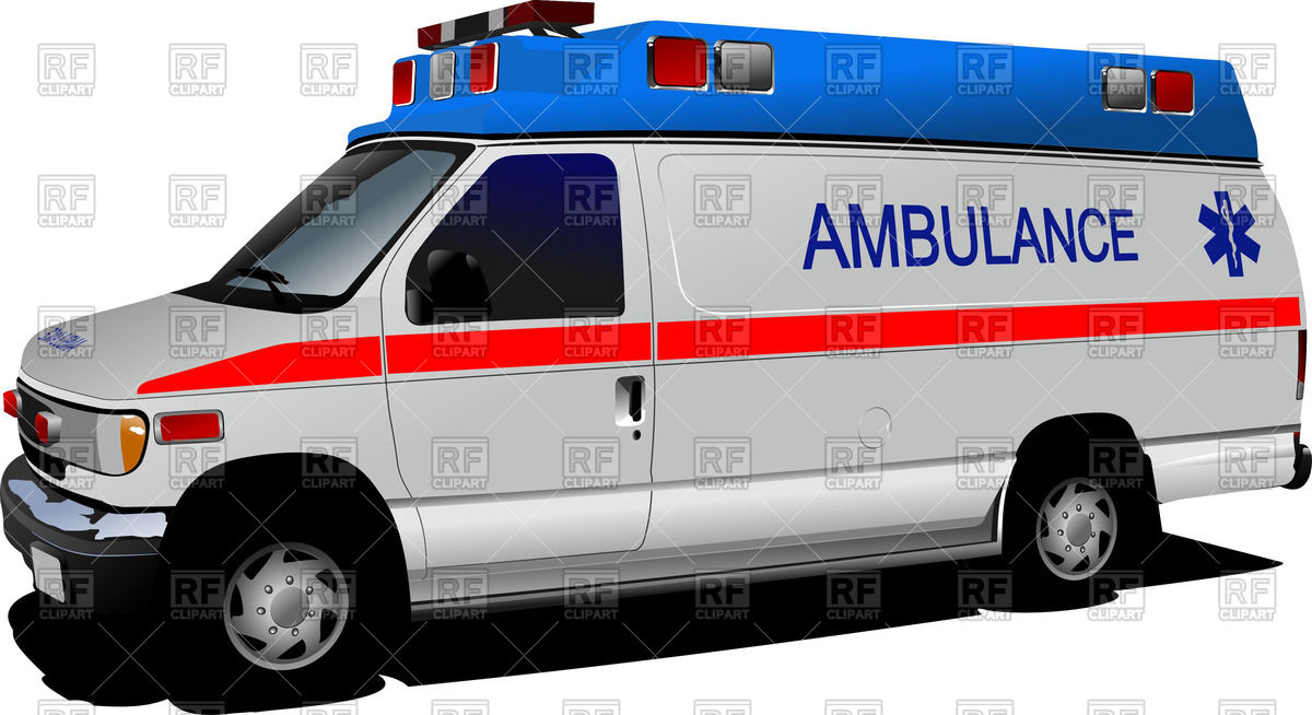 1200x654 Ambulance Van Over White Royalty Free Vector Clip Art Image