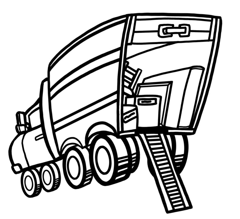 792x722 Moving Clipart Black And White