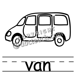 300x300 Black And White Clipart Of Van