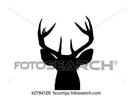 450x324 Stock Illustration Of Whitetail Deer Buck Silhouette K2784126
