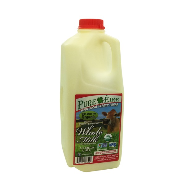 600x600 Pure Eire Organic Whole Milk (64 Fl Oz) From Whole Foods Market