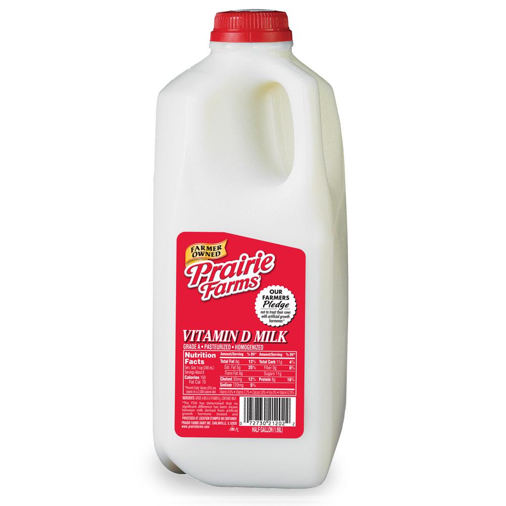 1000x1000 Vitamin D, Whole Milk, Half Gallon