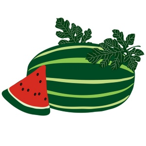 300x300 Free watermelon clipart free vector for free download about 2 3 2